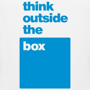 Think Outside the Box - Men's Premium Tank Top