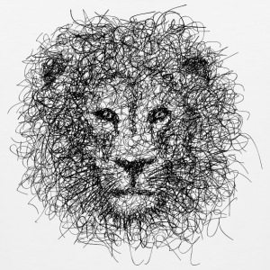 Lion Scribble - Men's Premium Tank Top