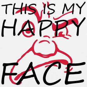 This is my happy face - Männer Premium Tank Top