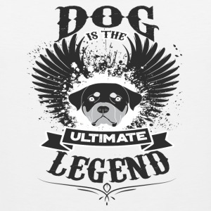 Dog THE LEGEND - Premiumtanktopp herr