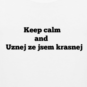 Keep calm and CZ for mens - Men's Premium Tank Top
