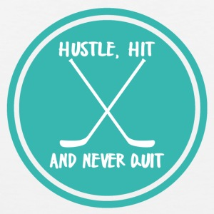 Ishockey: Hustle, Hit og aldri sluttet. - Premium singlet for menn