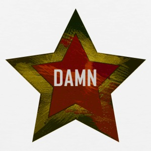 "A star with the word ""DAMN"" red-yellow - Men's Premium Tank Top"