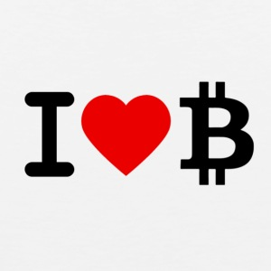 I love Bitcoin - Men's Premium Tank Top