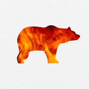 BEAR IN FIRE - Männer Premium Tank Top