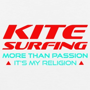 KITESURFING - MORE THAN PASSION - ITS MY RELIGION - Men's Premium Tank Top