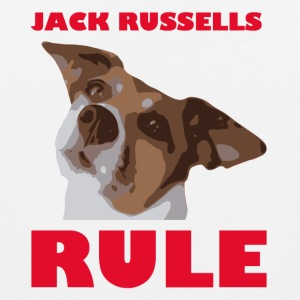 Jack russels rule2 red - Männer Premium Tank Top