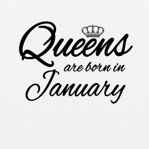 Queensborn January Princess Birthday Birthday - Men's Premium Tank Top