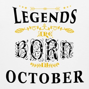 Birthday October legends born gift birth - Men's Premium Tank Top