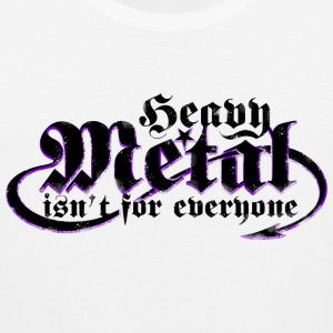 Heavy Metal er ikke for alle. (Sort) - Herre Premium tanktop