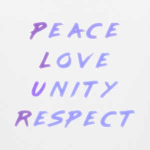 Peace Love Unity Respect PLUR blue purple - Débardeur Premium Homme