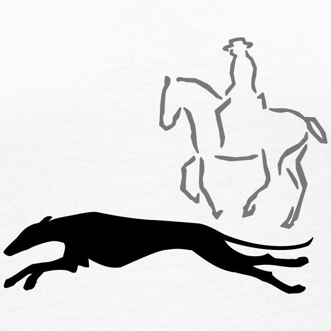 Reiter mit Windhund