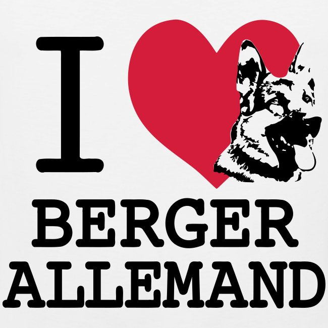 I love Berger Allemand tete