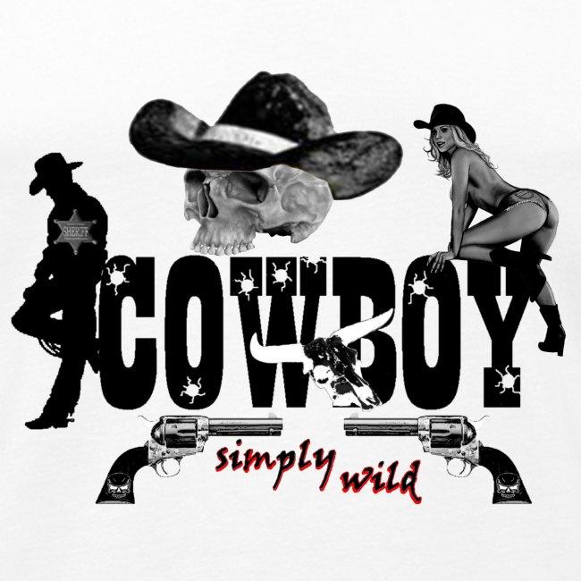 simply wild Cowboy on white