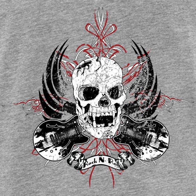 Grunge Rock N' Roll Skull