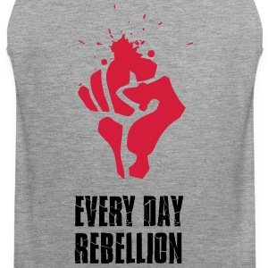 Rebellion strijd Faust rode bloed elke dag Revolutio - Mannen Premium tank top
