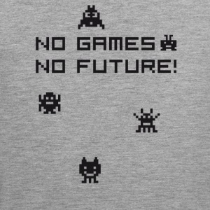 no games no future Nerd 8bit pc geek tetris Play l - Männer Premium Tank Top