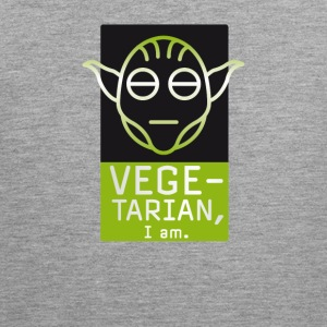 Vegetarian vegan green comic yeti movie outline nerd - Men's Premium Tank Top