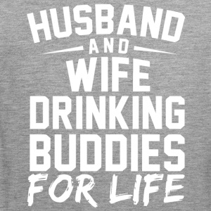 Husband and Wife drinking bubdies for life - Men's Premium Tank Top