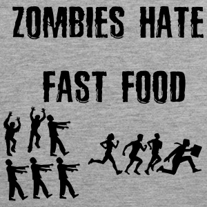 Zombies hate fastfood - Premium singlet for menn