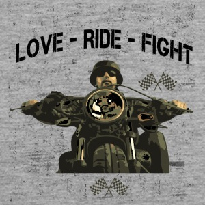 RIDE MOTORBIKE - LOVE - FIGHT - Men's Premium Tank Top