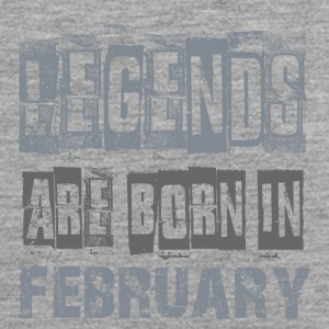LEGENDS ARE BORN IN FEBRUARY - Männer Premium Tank Top