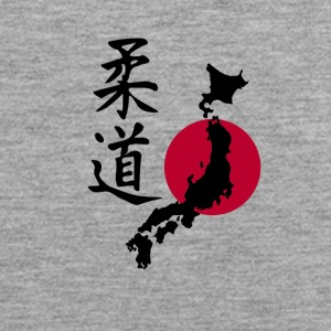 Judo with the map of Japan - Men's Premium Tank Top