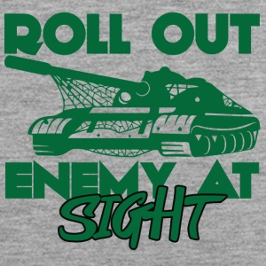 Militair / Soldier: Roll Out Enemy At Sight - Mannen Premium tank top