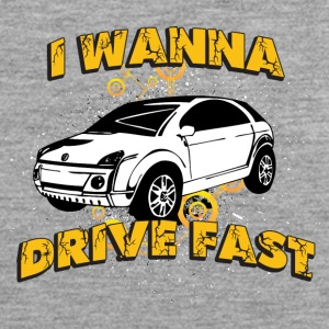 I wanna drive fast small ugly car - Men's Premium Tank Top