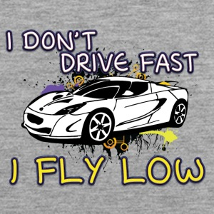 iI don t drive fast i fly low white - Men's Premium Tank Top