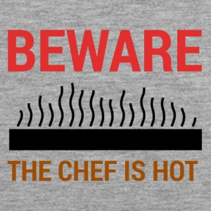Koch / Chefkoch: Beware - The Chef Is Hot. - Männer Premium Tank Top