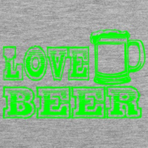 LOVE BEER groen - Mannen Premium tank top