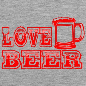 LOVE BEER rood - Mannen Premium tank top
