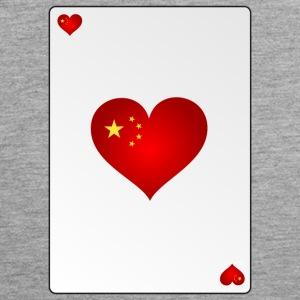Card China Heart Ass Heart - Men's Premium Tank Top