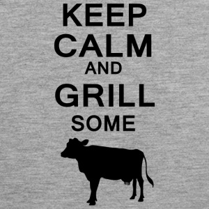Keep Calm and grill noen kyr - Premium singlet for menn