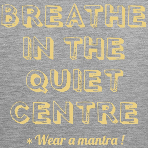 BREATHE IN THE QUIET - Canotta premium da uomo