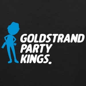 Guld beach party Kings - Herre Premium tanktop