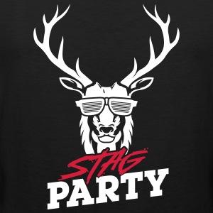Stag Party - White Design - Men's Premium Tank Top