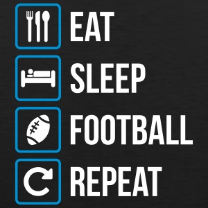Eat Sleep American Football Repeat - Mannen Premium tank top