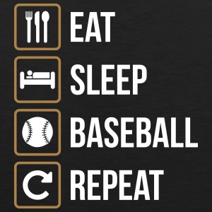 Eat Sleep Baseball Softball Repeat - Canotta premium da uomo