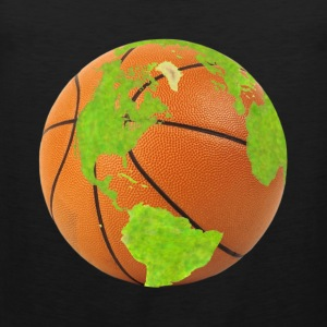 basketball earth planet globe erde globus - Männer Premium Tank Top