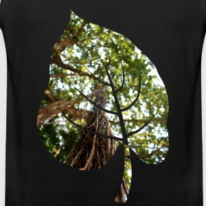 Leaf in tropical forest - Men's Premium Tank Top
