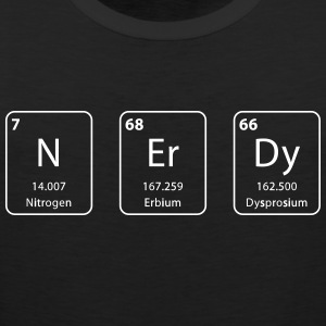 nerdy periodic table element - Mannen Premium tank top