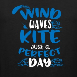 Wind Waves Kite Just A Perfect Day - Herre Premium tanktop