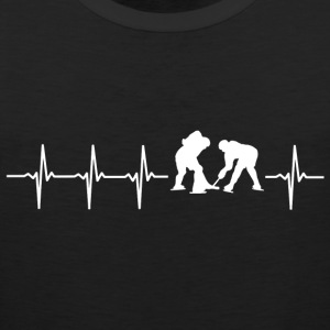 I love hockey (ice hockey heartbeat) - Men's Premium Tank Top