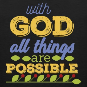 With God is Everything - Men's Premium Tank Top
