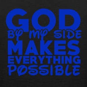 God by My Side - Believe - Men's Premium Tank Top