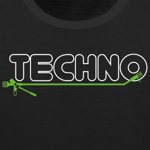 Techno turntable - Männer Premium Tank Top