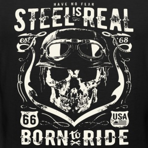 Avez-No Fear Is Real Steel Born to Ride is 68 - Débardeur Premium Homme