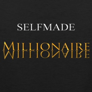 Self made milioner złoto - Tank top męski Premium